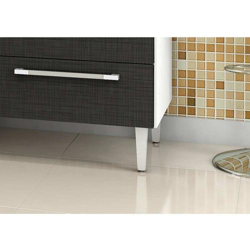 cozinha compacta jade - branco e preto -kits paraná