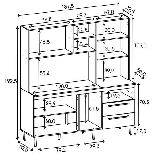 cozinha compacta jade - rovere - kits paraná