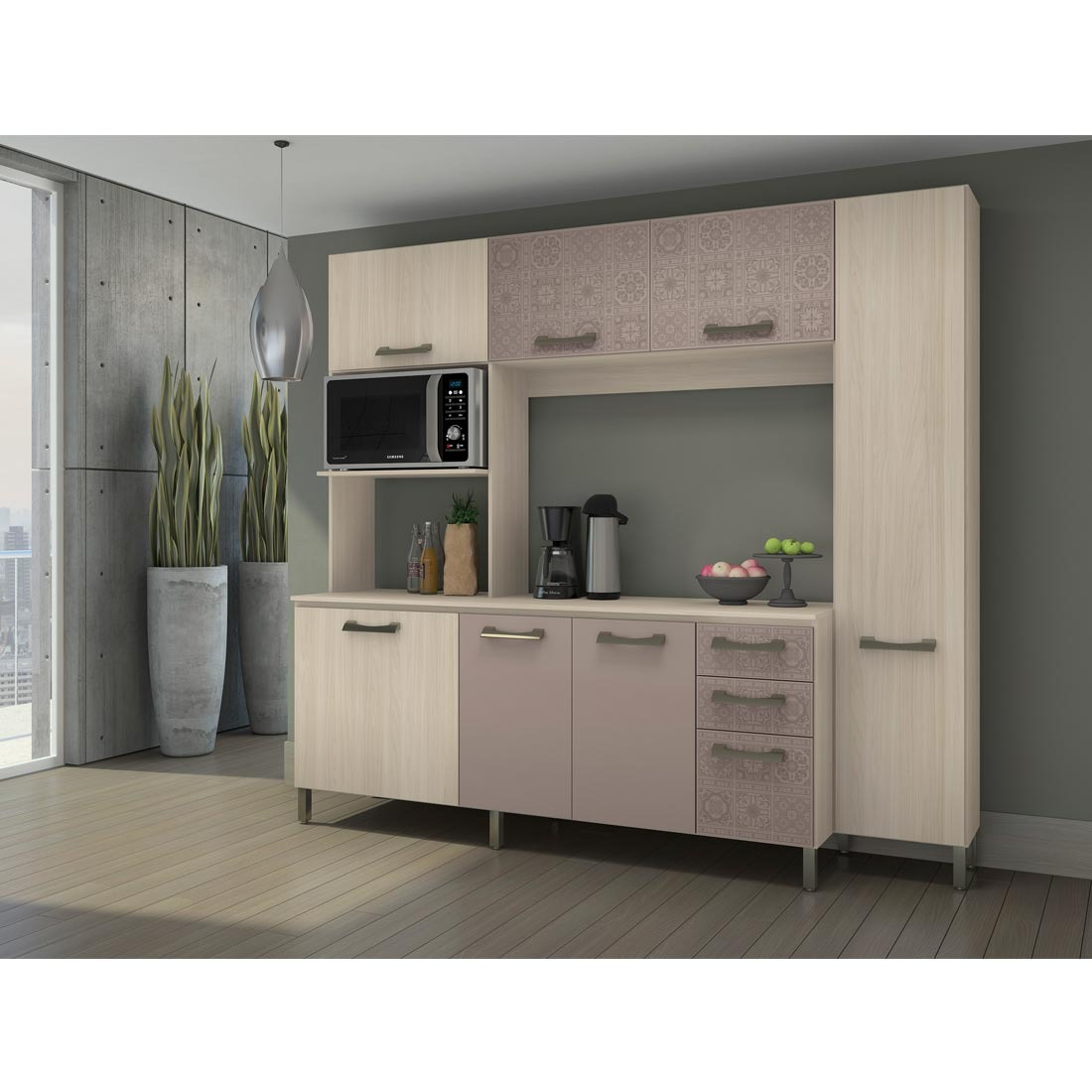 Armario De Cozinha Na Ricardo Eletro Cozinha Compacta Peas Sem
