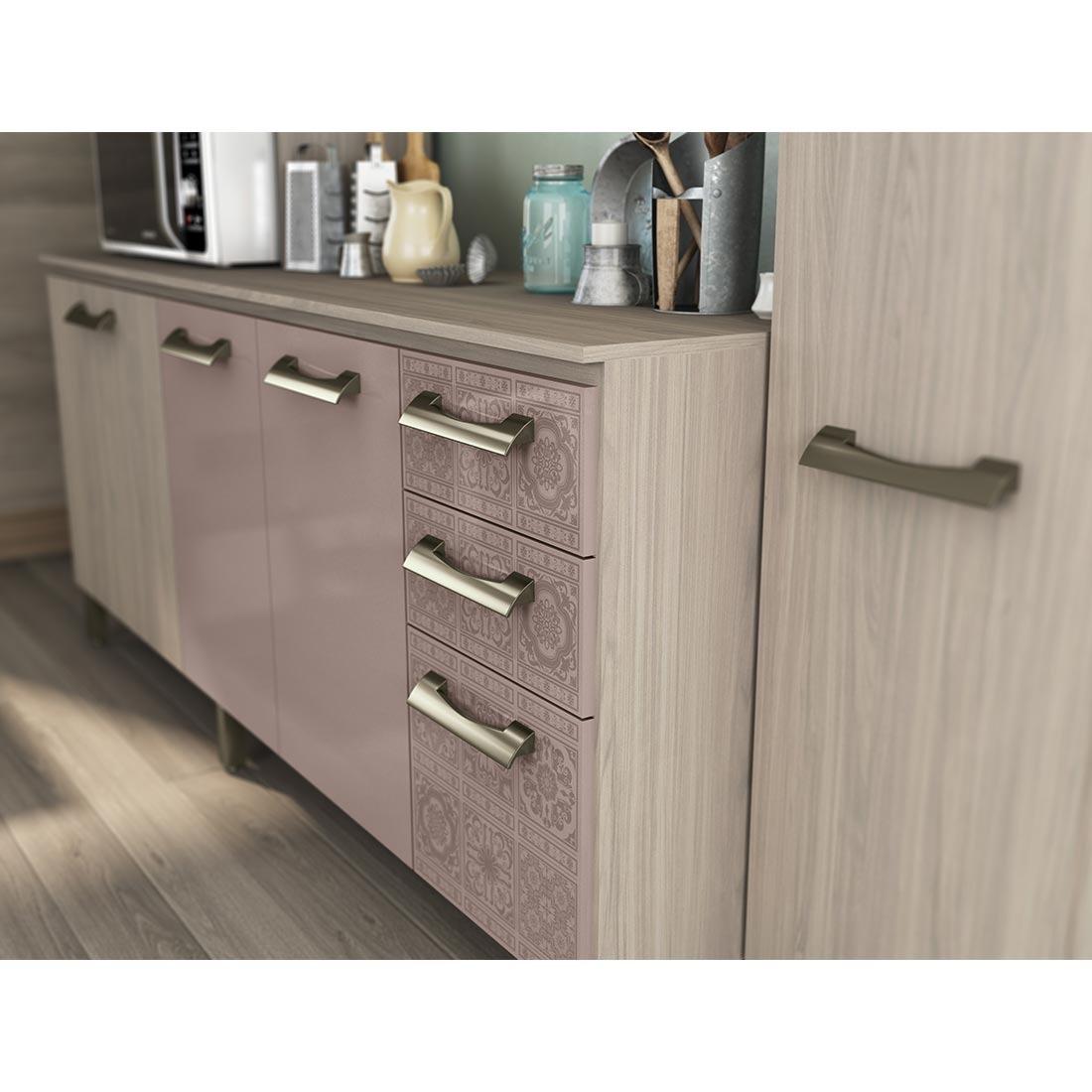 Cozinha Compacta Kappesberg E780 7 Portas Marrom E Am Ndoa R