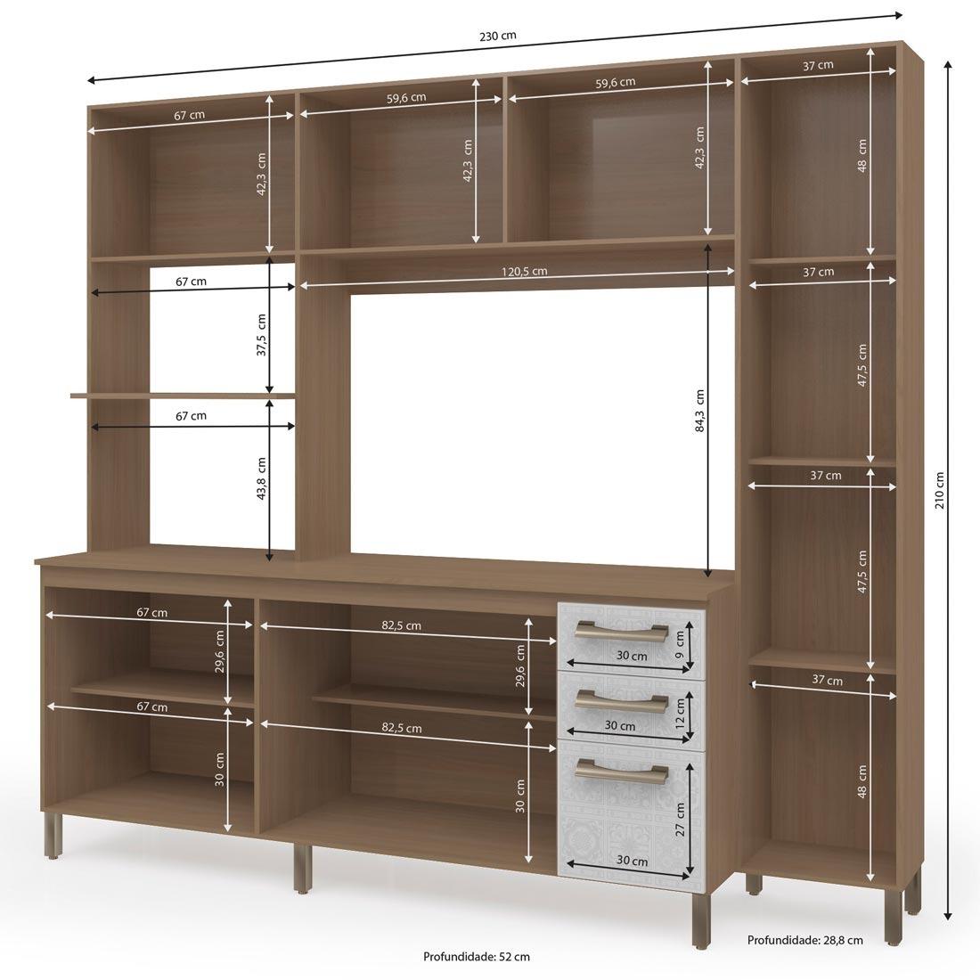 Cozinha Compacta Kappesberg E780 Espa O Para Forno R 835 89 Em