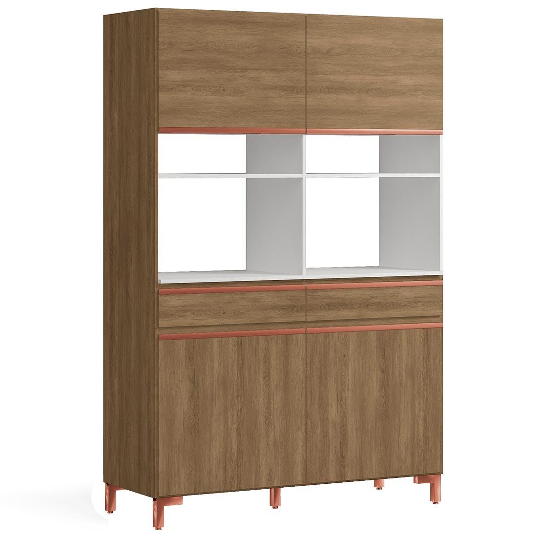 Cozinha Compacta Kappesberg F741 Nogal E Branco R 706 53 Em