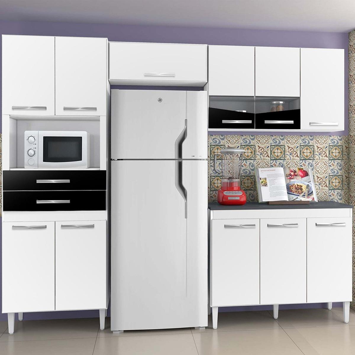 Cozinha Compacta L Via Chf Branco Preto Db R 689 90 Em Mercado Livre