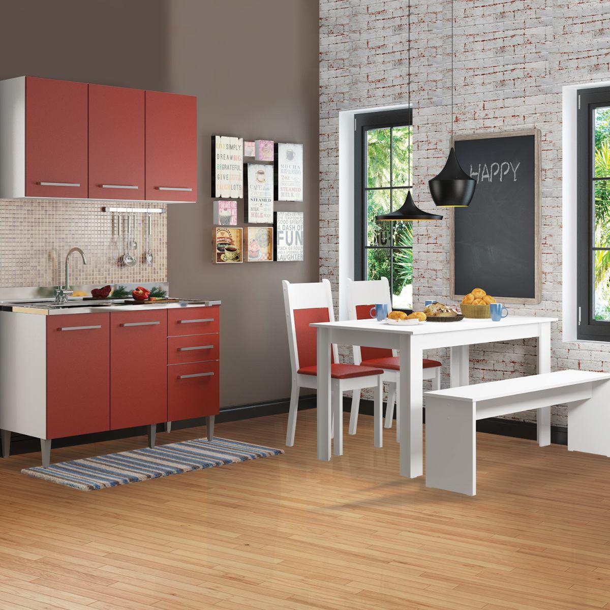 Cozinha Compacta Madesa Elis Glamy Gr Tis 1 Mesa 2 R 803 90 Em
