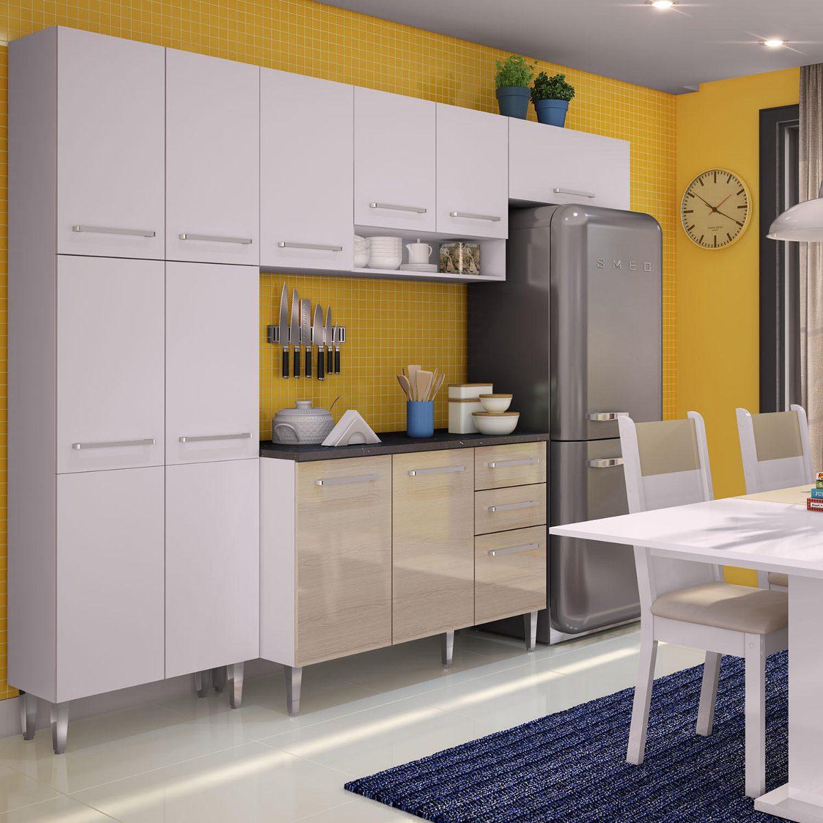 Cozinha Compacta Madesa Jasmin Branco Tirol If R 1 299 90 Em