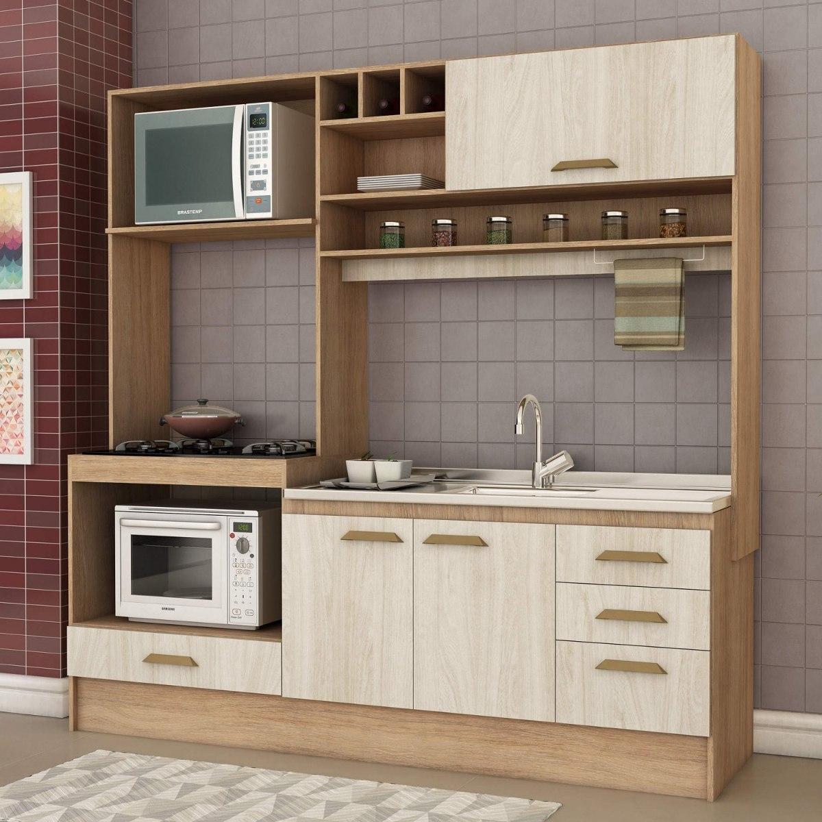 Cozinha Compacta Sem Pia E Tampo 4 Portas 3 Gavetas Bd R 559 90