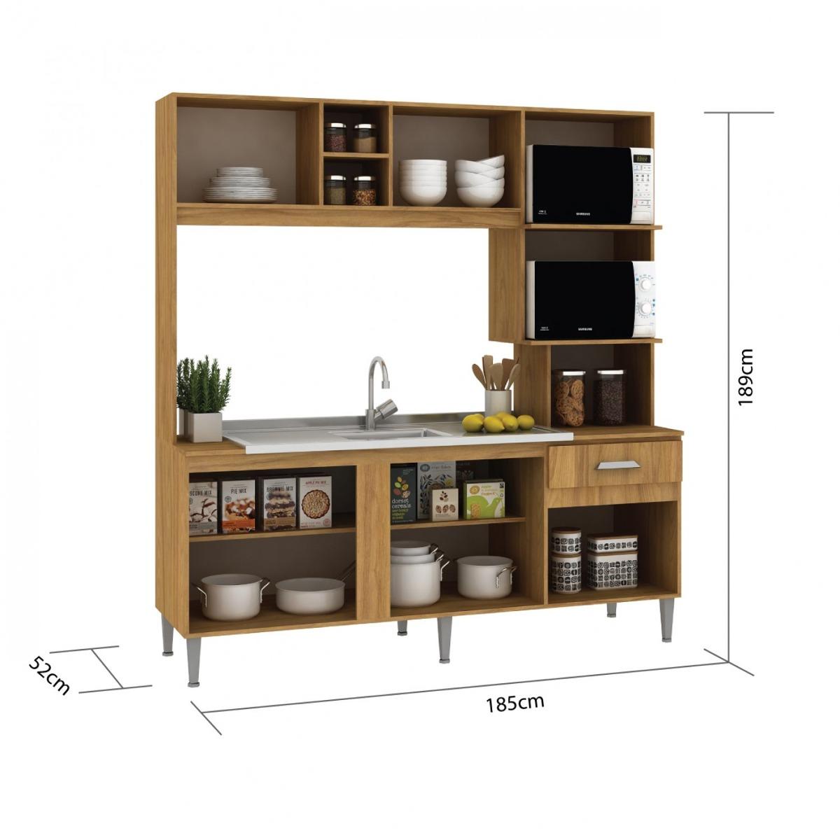 Cozinha Compacta Sem Pia E Tampo 5 Portas 1 Gaveta Ja R 559 90 Em