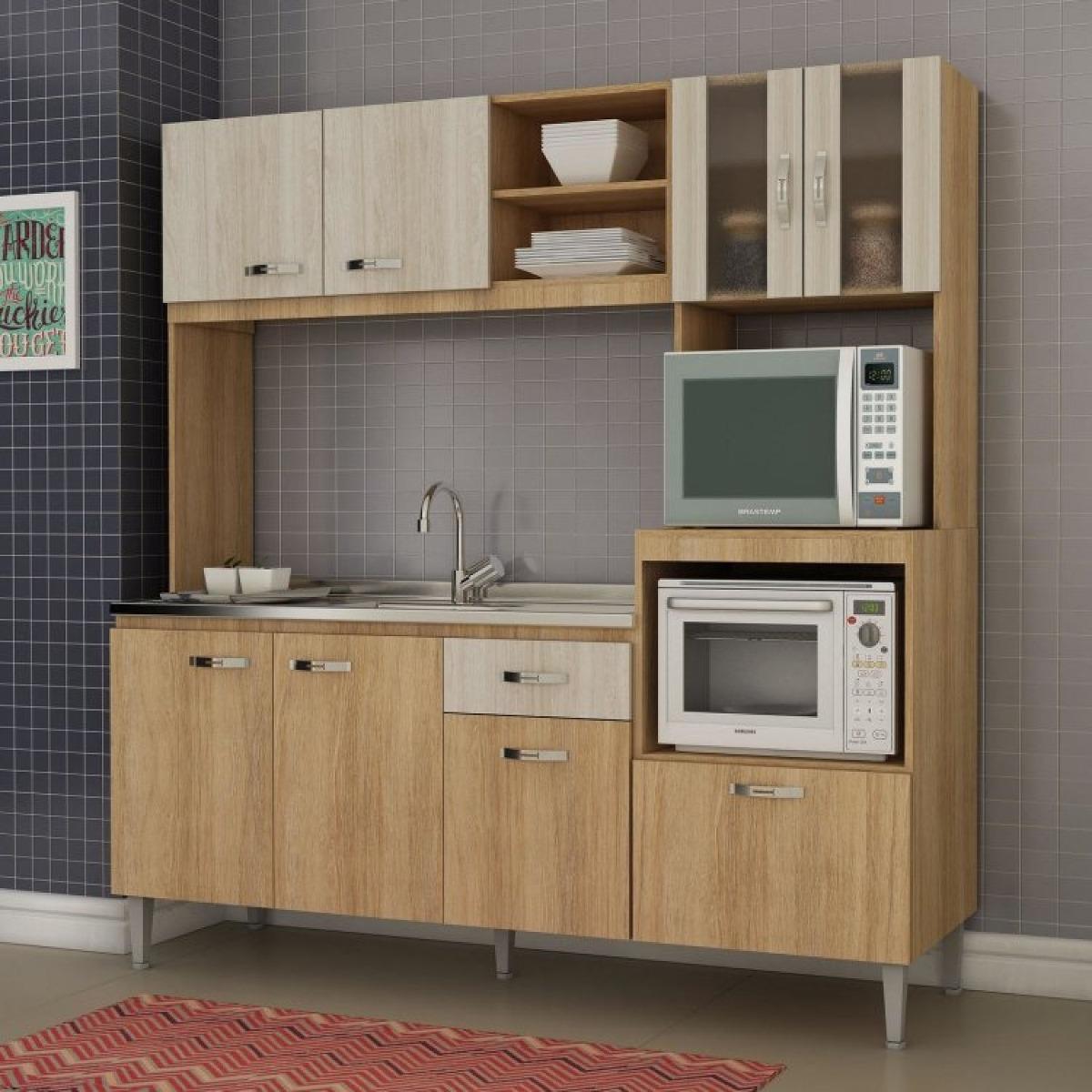 Cozinha Compacta Sem Pia E Tampo 8 Portas 1 Gaveta Bj R 519 90 Em