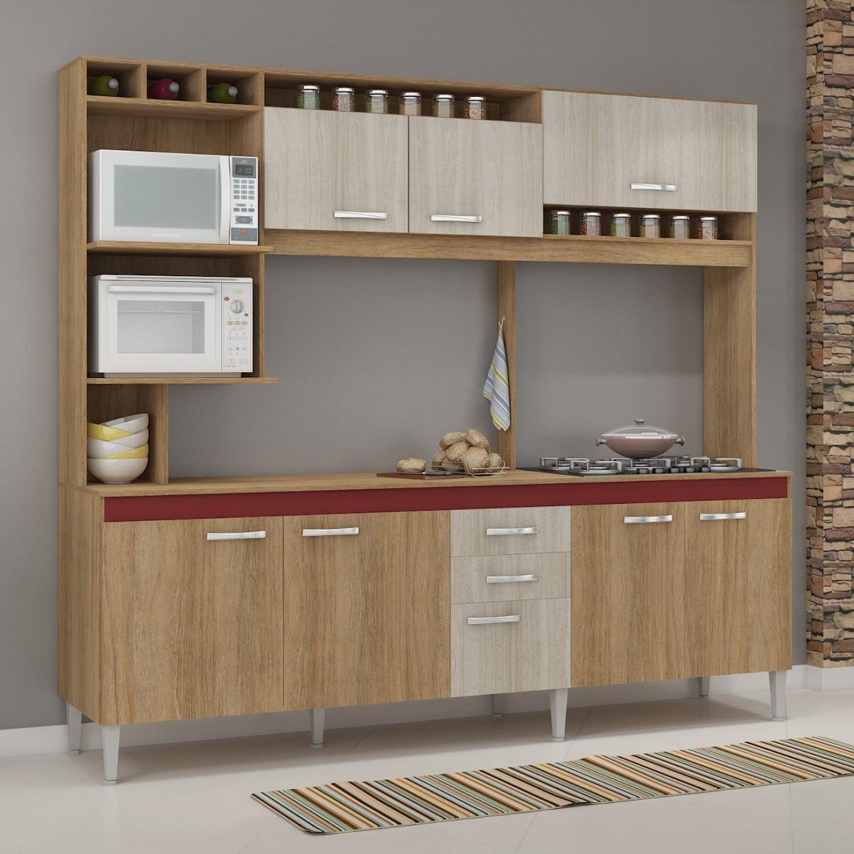 Cozinha Compacta Sem Pia E Tampo 8 Portas 2 Gavetas B R 719 90 Em