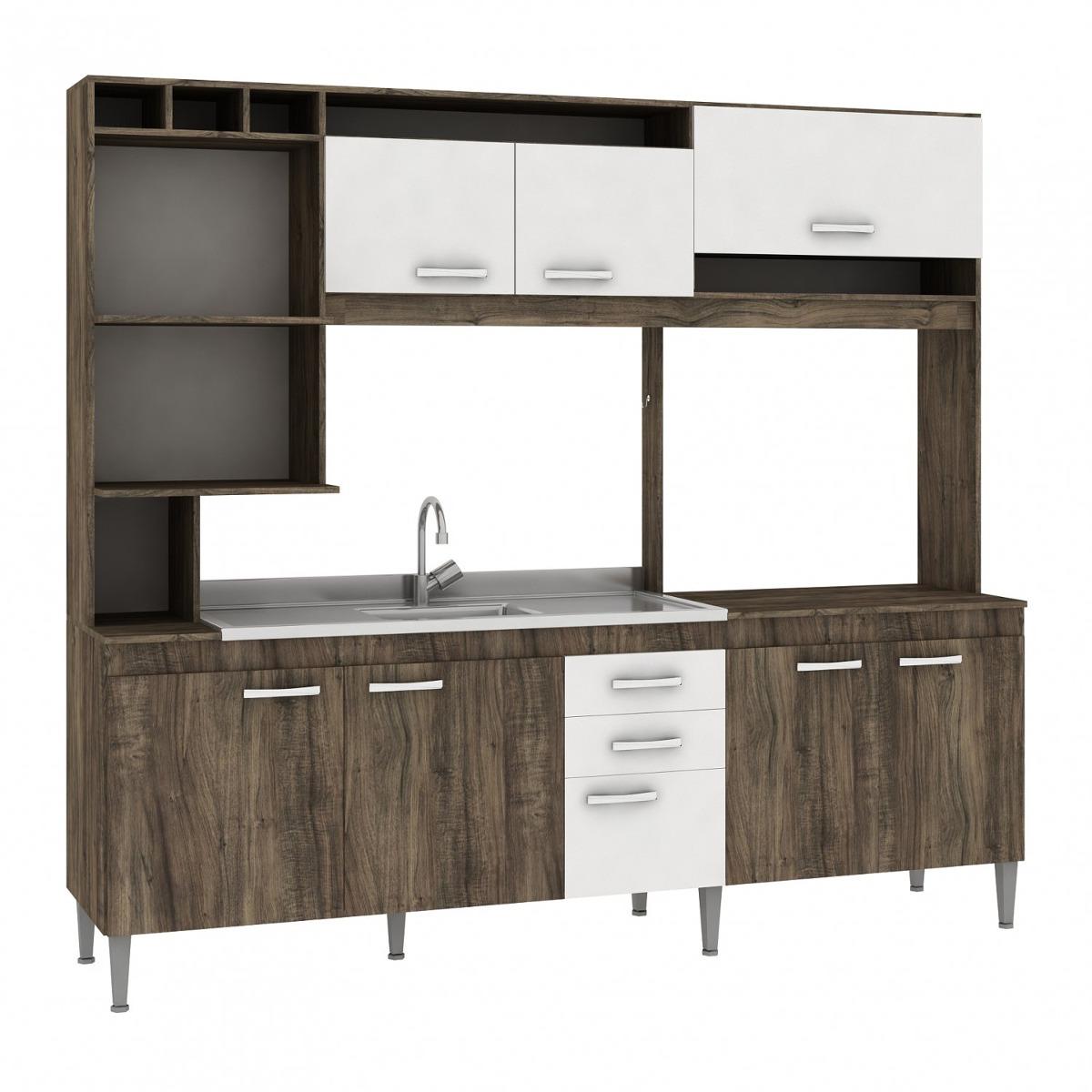 Cozinha Compacta Sem Pia E Tampo 8 Portas 2 Gavetas C R 719 90 Em