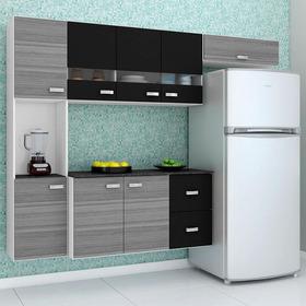 Cozinha Compacta Suspensa 4 Peças Julia - Poquema