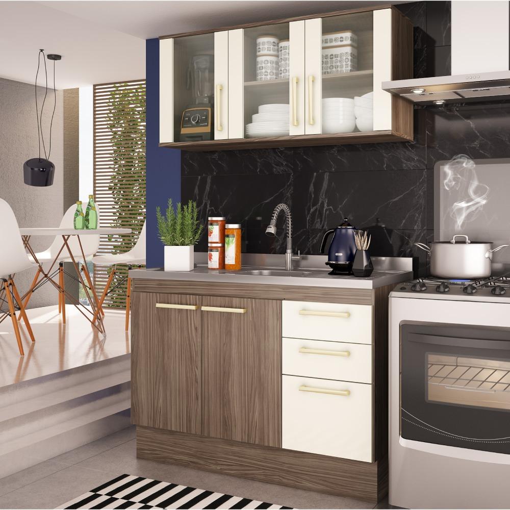 Cozinha Compacta Zafira Com Balc O 2 Gavetas E A Reo Nover R