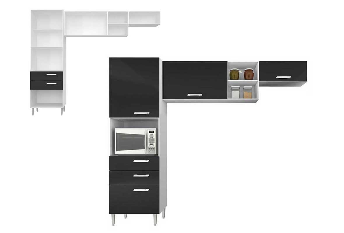 Cozinha Completa 3 P S Poquema Preto Nat Lia R 463 90 Em Mercado