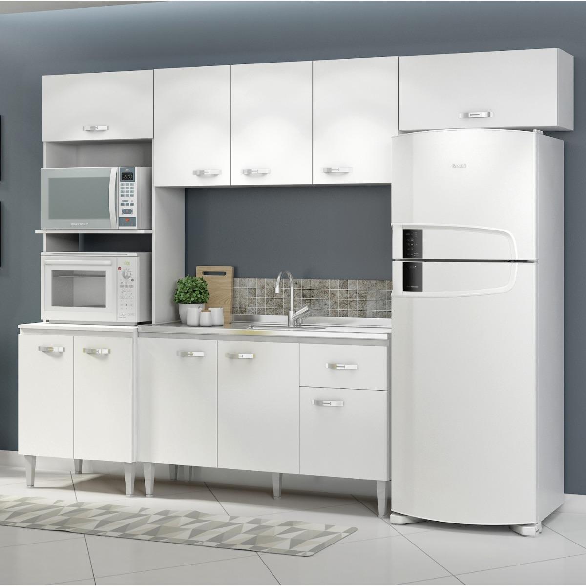 Cozinha Completa 4 M Dulos 10 Portas 1 Gaveta Cris Si Ia R 599 90