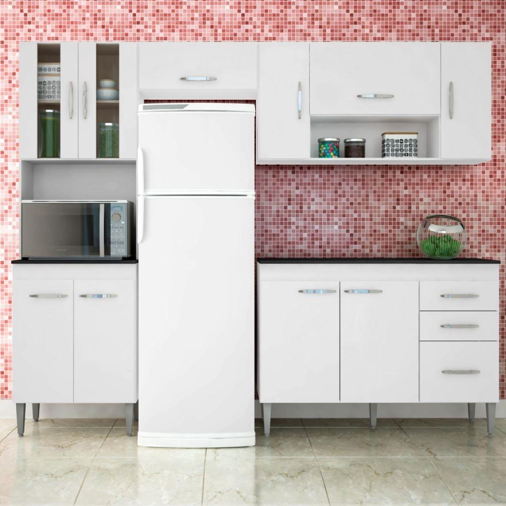 Cozinha Completa 4 P S Manuela 10 Portas 3 Gavetas Branco R 1 065