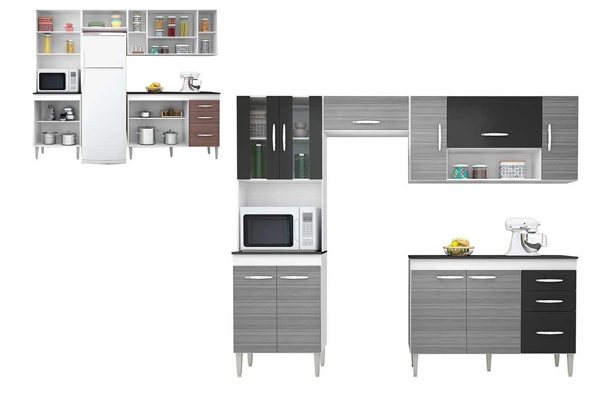 Cozinha Completa 4 P S Poquema Branco Preto Manuela R 701 90 Em