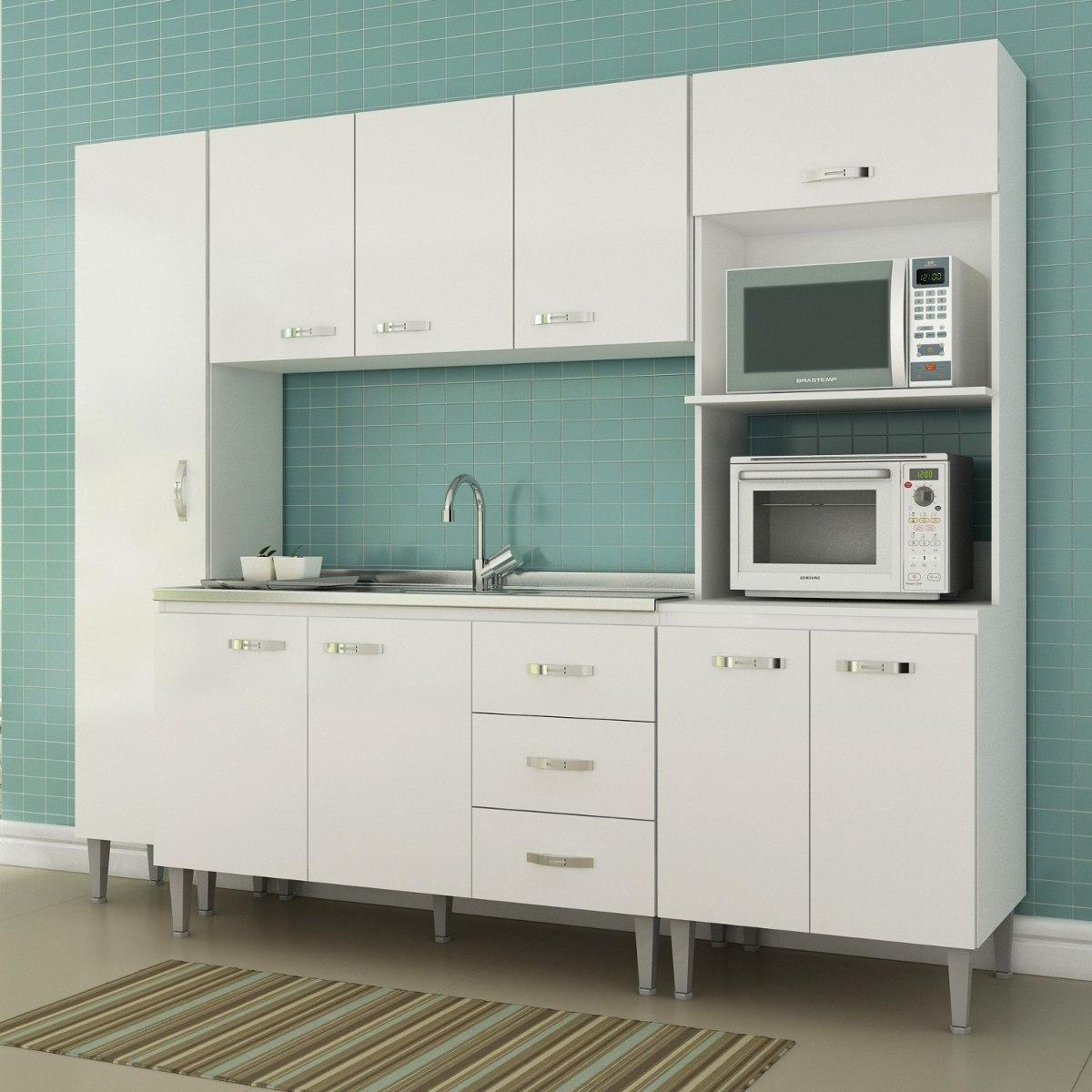 Cozinha Completa 4 Pe As Master Siena M Veis Branco Jiwt R 700 70
