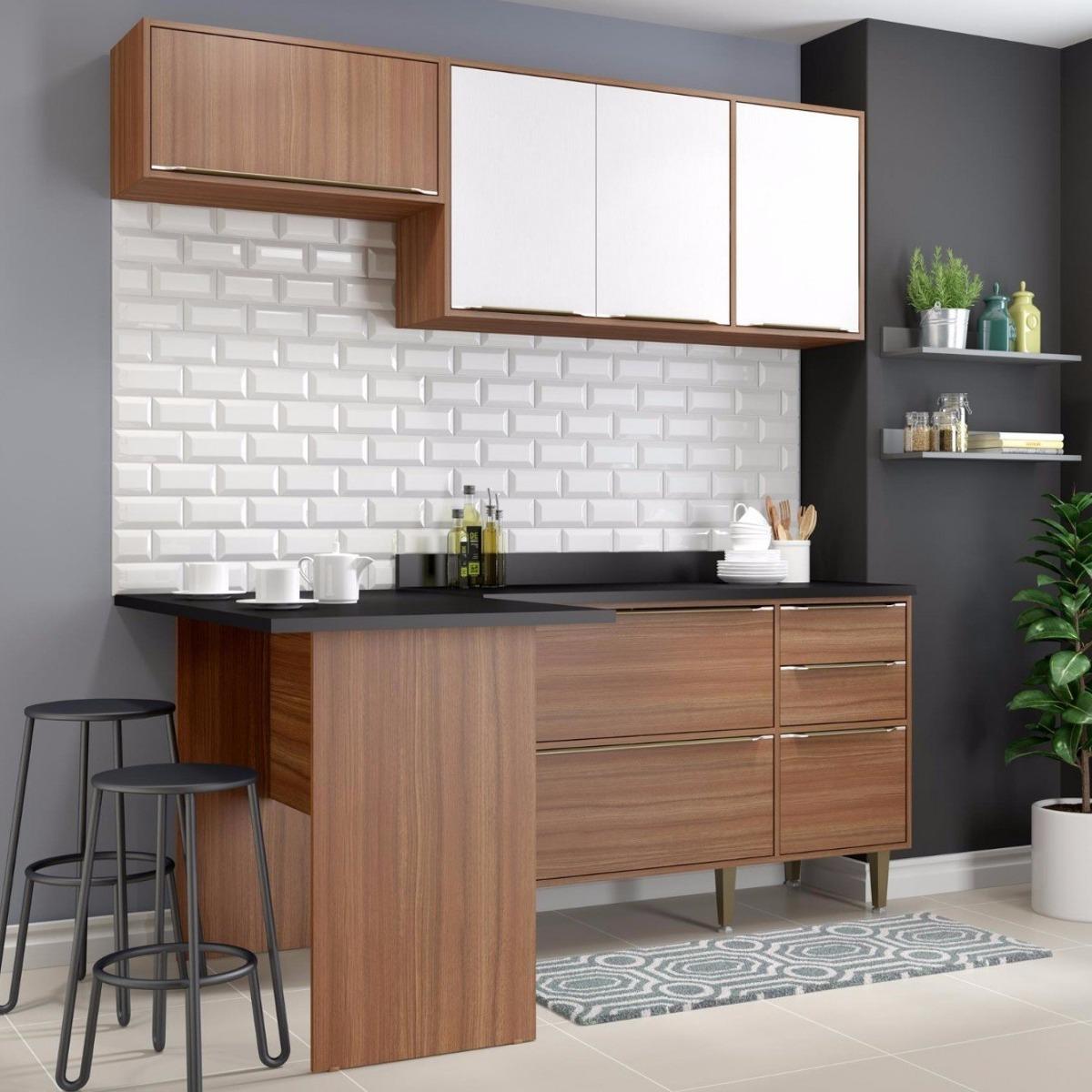 Cozinha Completa 5 M Dulos 6 Portas Cal Bria Bjwt R 902 30 Em