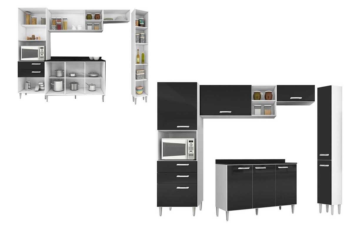 Cozinha Completa 5 P S Poquema Preto Nat Lia R 859 00 Em Mercado
