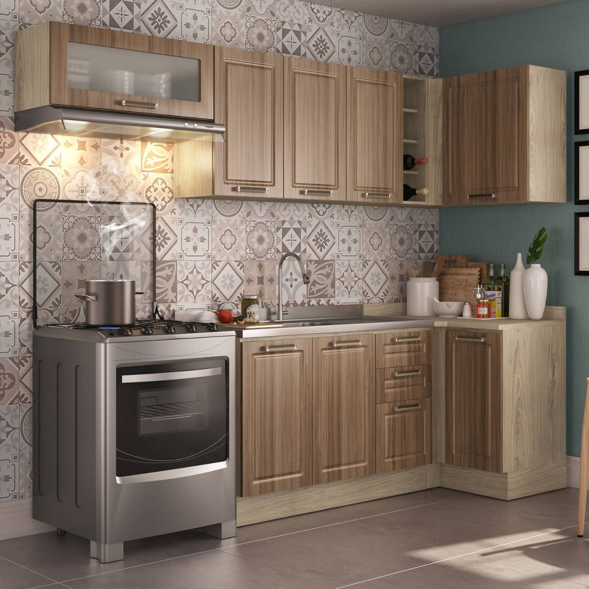 Cozinha Completa 6 M Dulos Proven Al Cook Completa Jjwt R 1 401