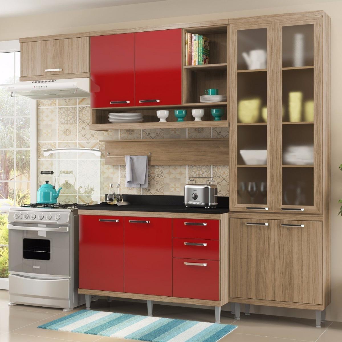 Cozinha Completa 6 Pe As Sic Lia S9t Multim Veis Fa R 1 789 90 Em