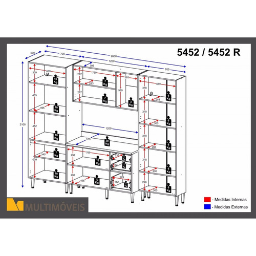 cozinha completa 8 módulos 13 portas calábria jg