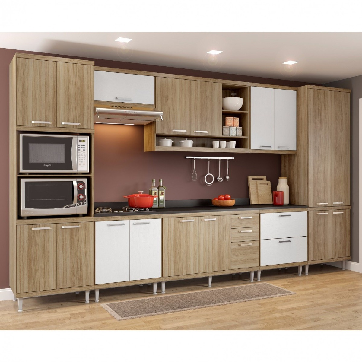 Cozinha Completa 9 Pe As Sic Lia S16t Multim Veis Gc R 3 099 90