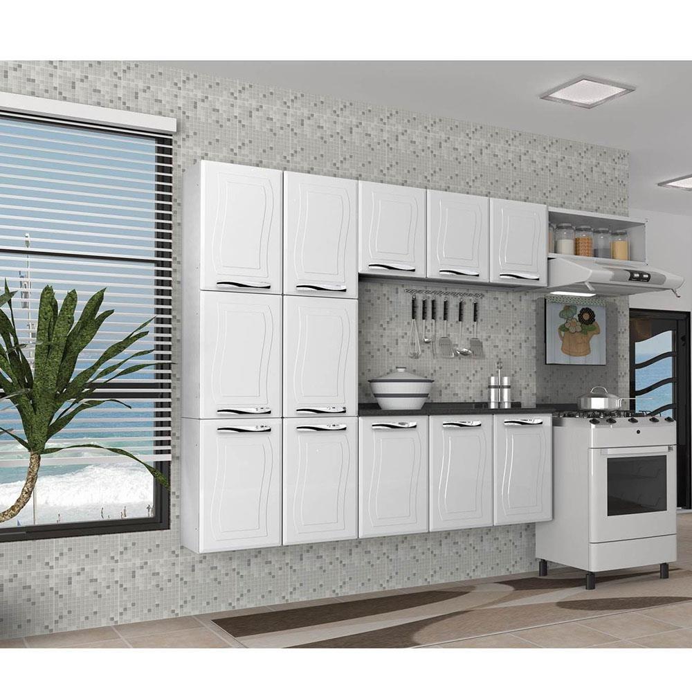 Cozinha Completa Ipanema Em A O 12 Portas Branco Colormaq R 549