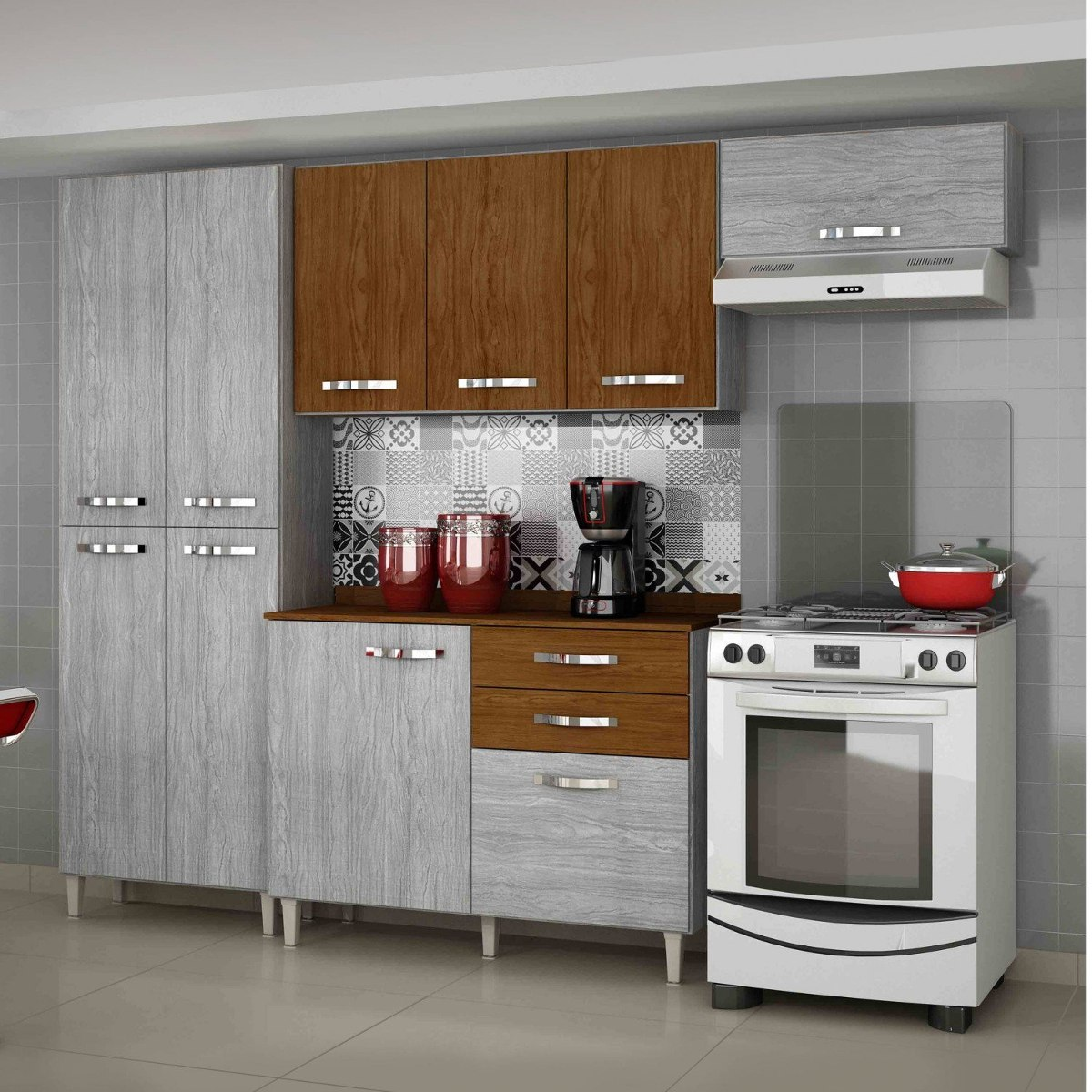Cozinha Completa Balc O Com Tampo 4 Pe As Azal Ia Hh R 899 90 Em