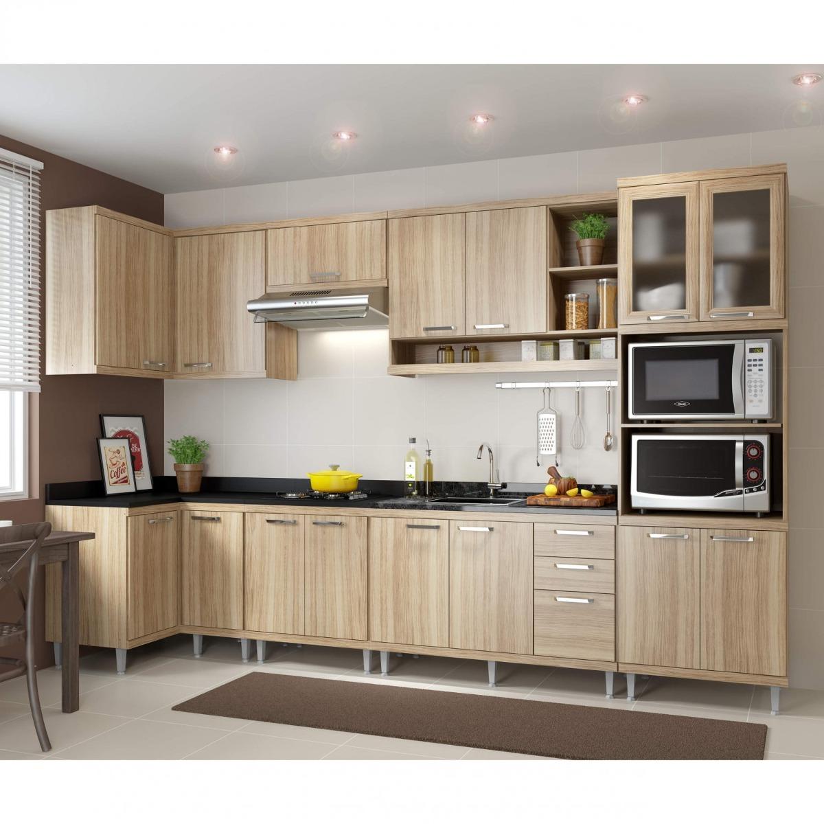 Cozinha Completa Canto Com Balc O Sem Tampo 7 Pe As H R 2 699 90
