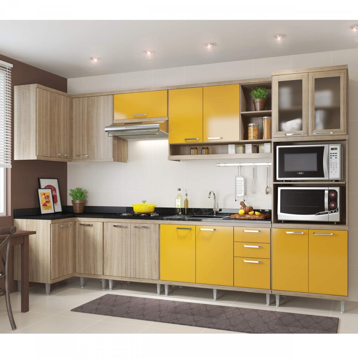 Cozinha Completa Canto Com Balc O Sem Tampo 7 Pe As J R 2 699 90