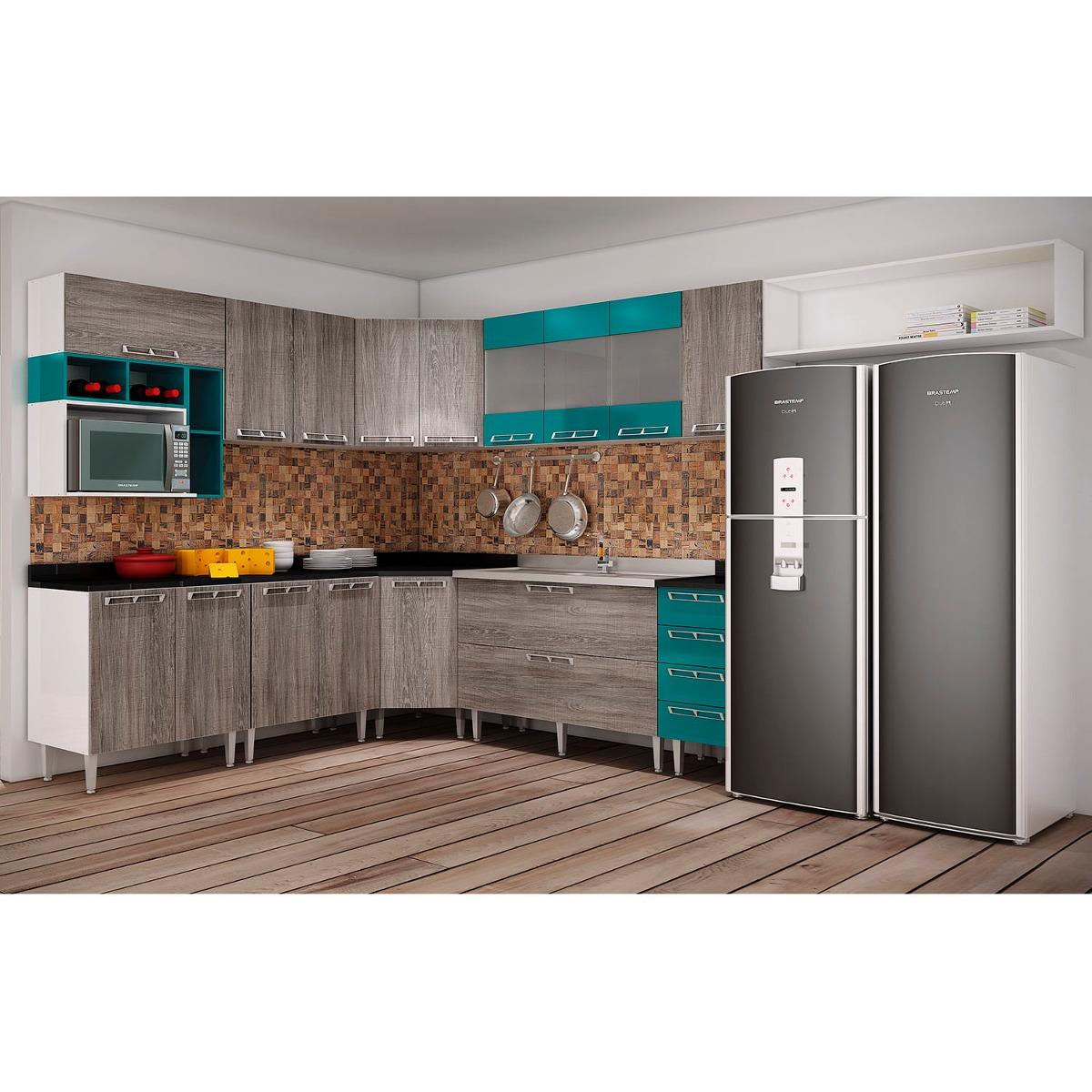 Cozinha Completa Cetus R Stico Verde H R 3 399 90 Em Mercado Livre