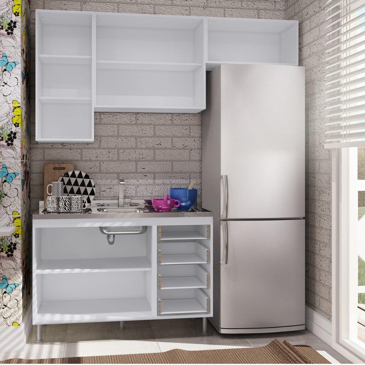 Cozinha Completa Com Balc O Sem Tampo 4 Pe As Bella I R 819 90 Em