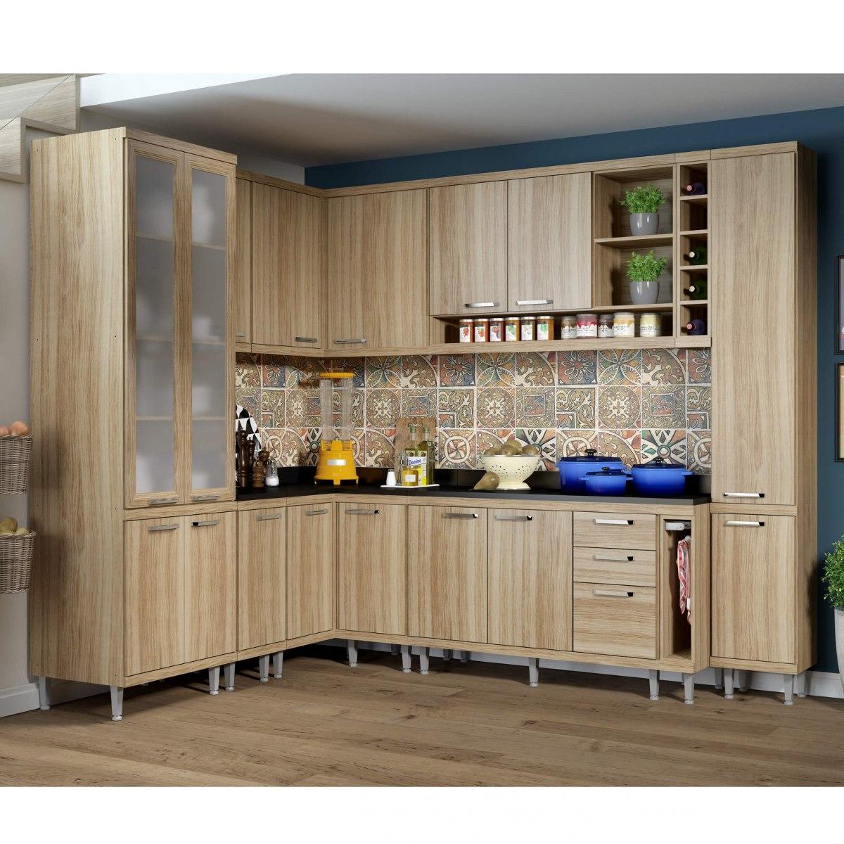 Cozinha Completa Com Balc O Com Tampo 11 Pe As 16 Gc R 3 299 90