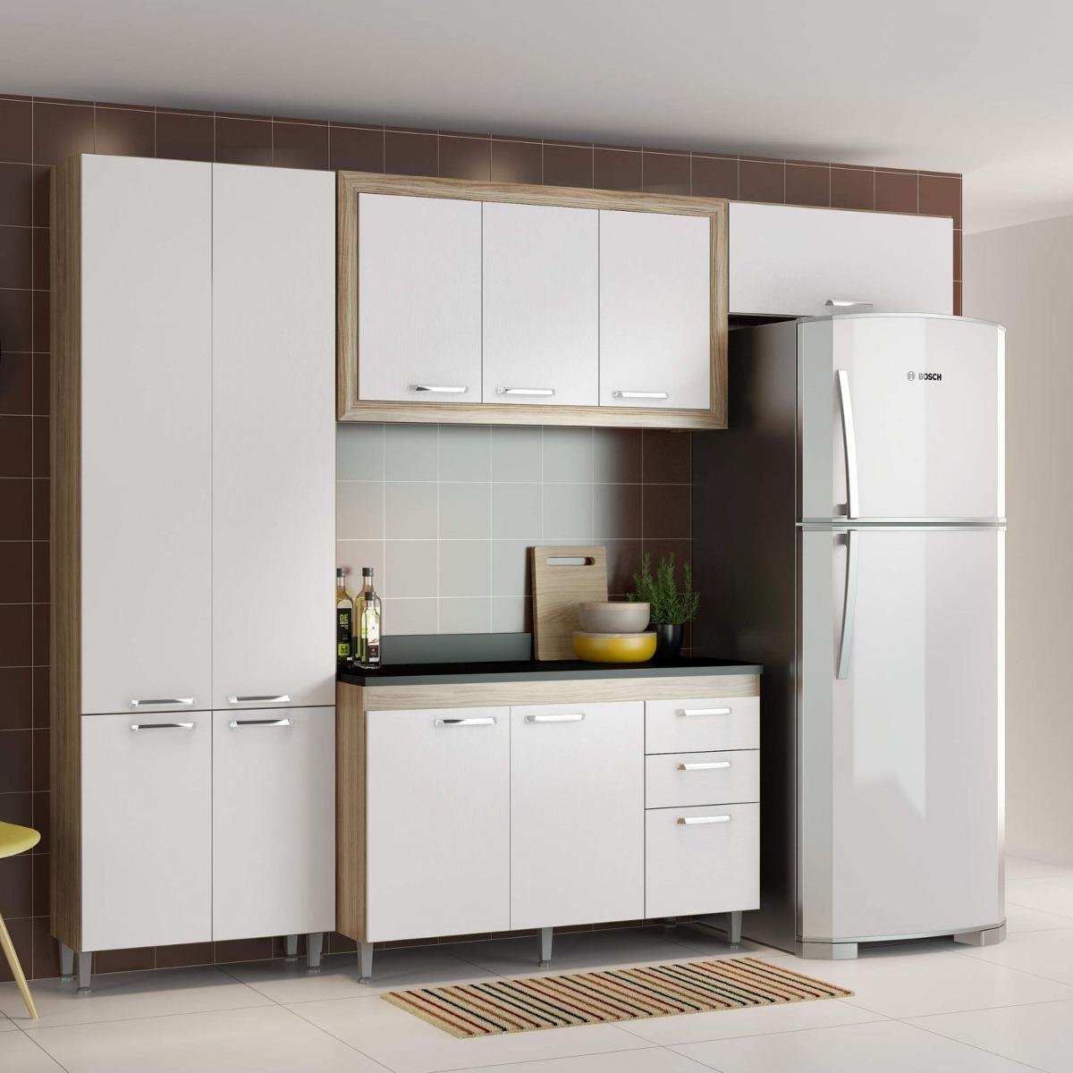 Cozinha Completa Com Balc O Com Tampo 5 Pe As 10 Df R 1 389 90 Em