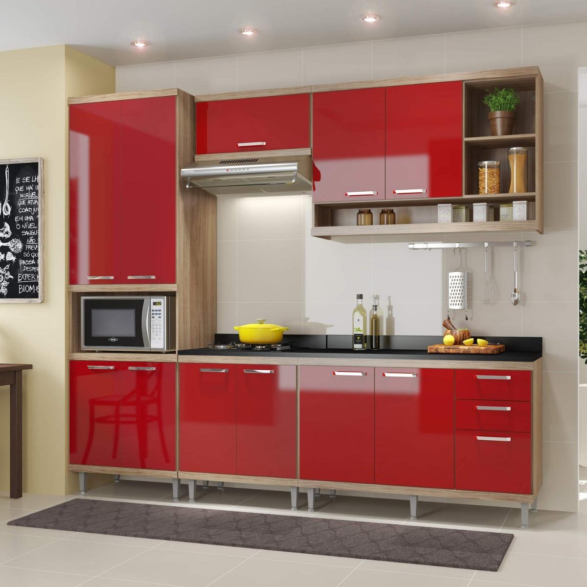 Cozinha Completa Com Balc O Com Tampo 6 Pe As 11 Giwt R 1 881 50