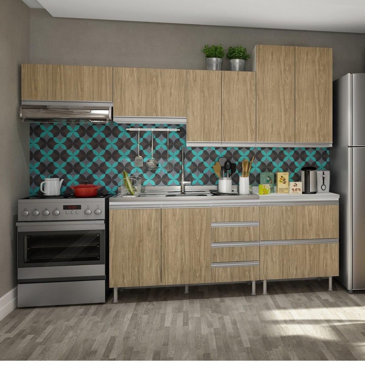 Cozinha Completa Com Balc O E Tampo 6 Pe As Modena Ibwt R 1 708