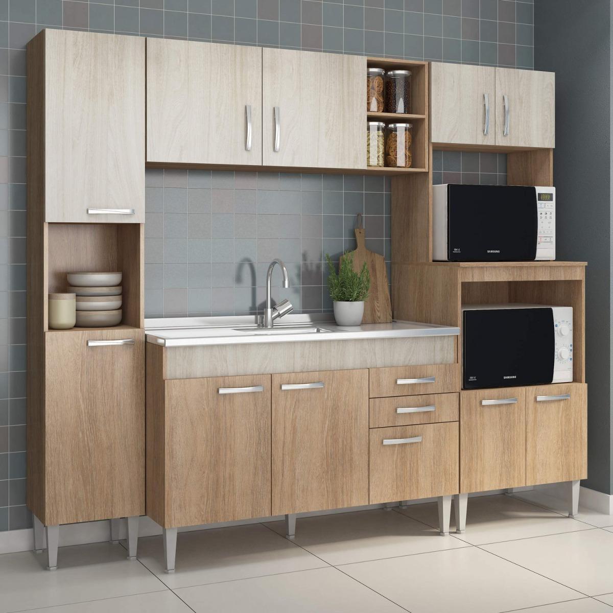 Cozinha Completa Com Balc O Sem Pia 4 Pe As 11 Be R 779 90 Em