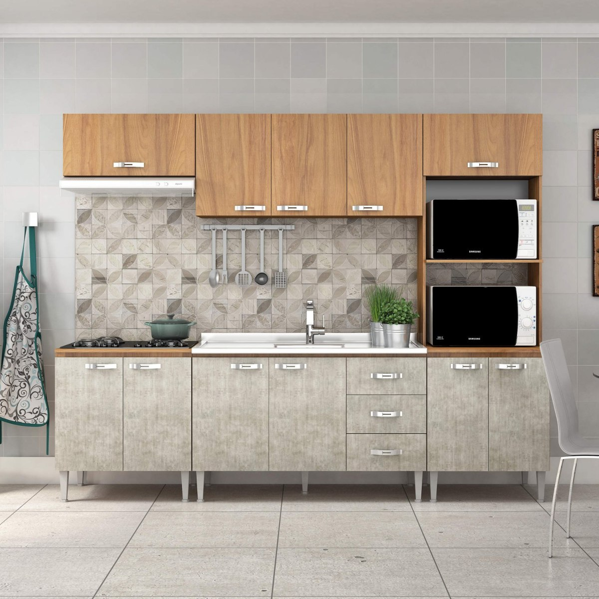 Cozinha Completa Com Balc O Sem Pia 5 Pe As 11 Dj R 979 90 Em