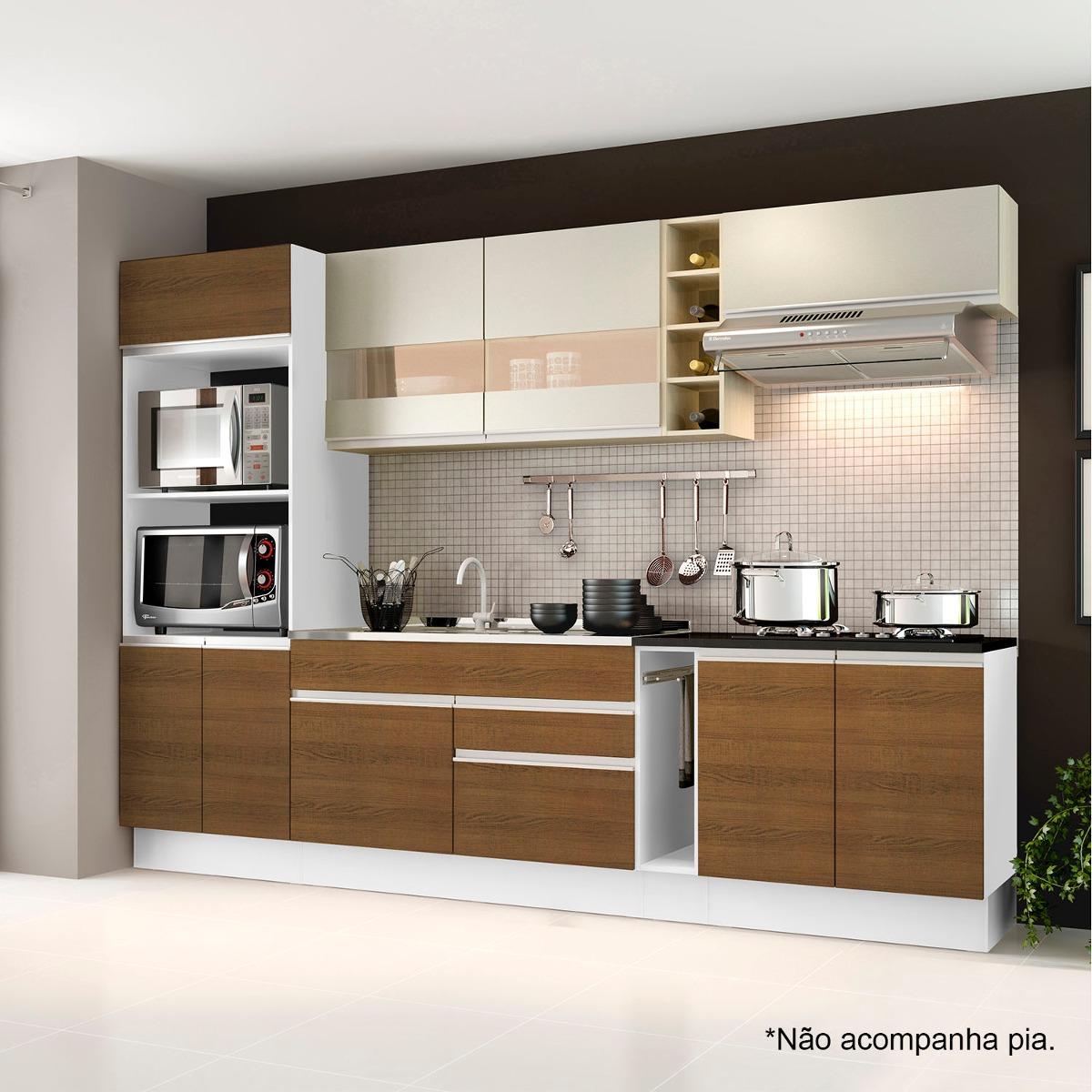Cozinha Completa Com Balc O Sem Pia E Tampo 7 Pe As Hj R 1 479 90