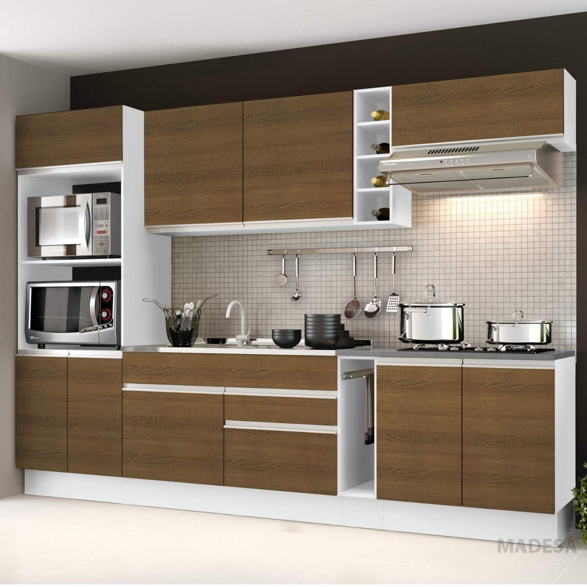 Cozinha Completa Com Balc O Sem Pia E Tampo 7 Pe As Ib R 1 489 90