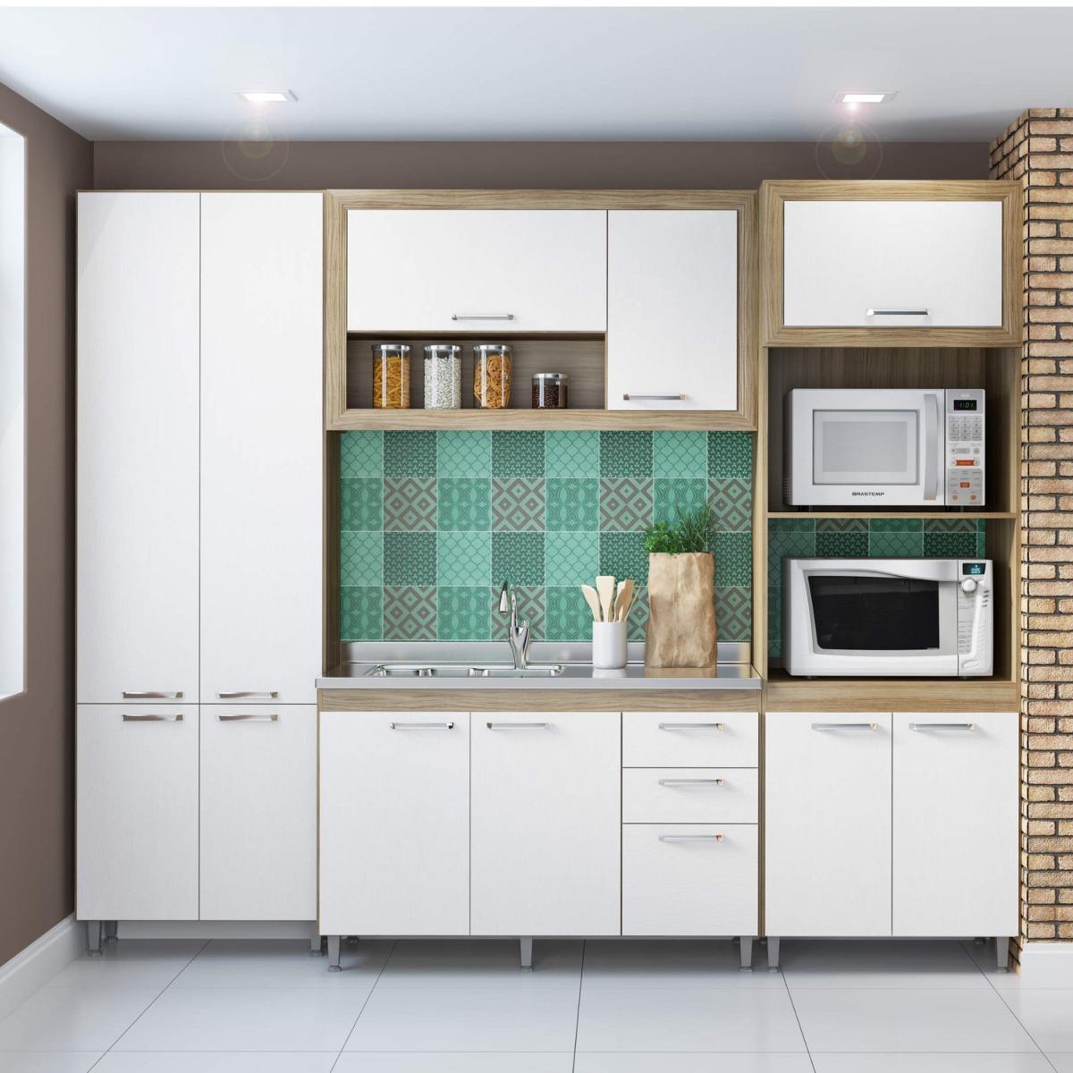 Cozinha Completa Com Balc O Sem Tampo 4 Pe As 11 Ec R 1 609 90 Em