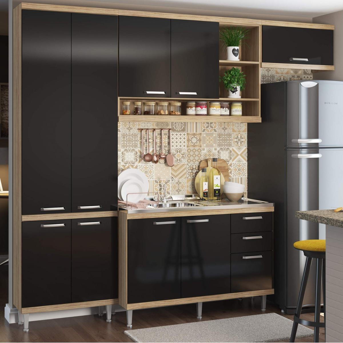 Cozinha Completa Com Balc O Sem Tampo 4 Pe As 9 Df R 1 419 90 Em