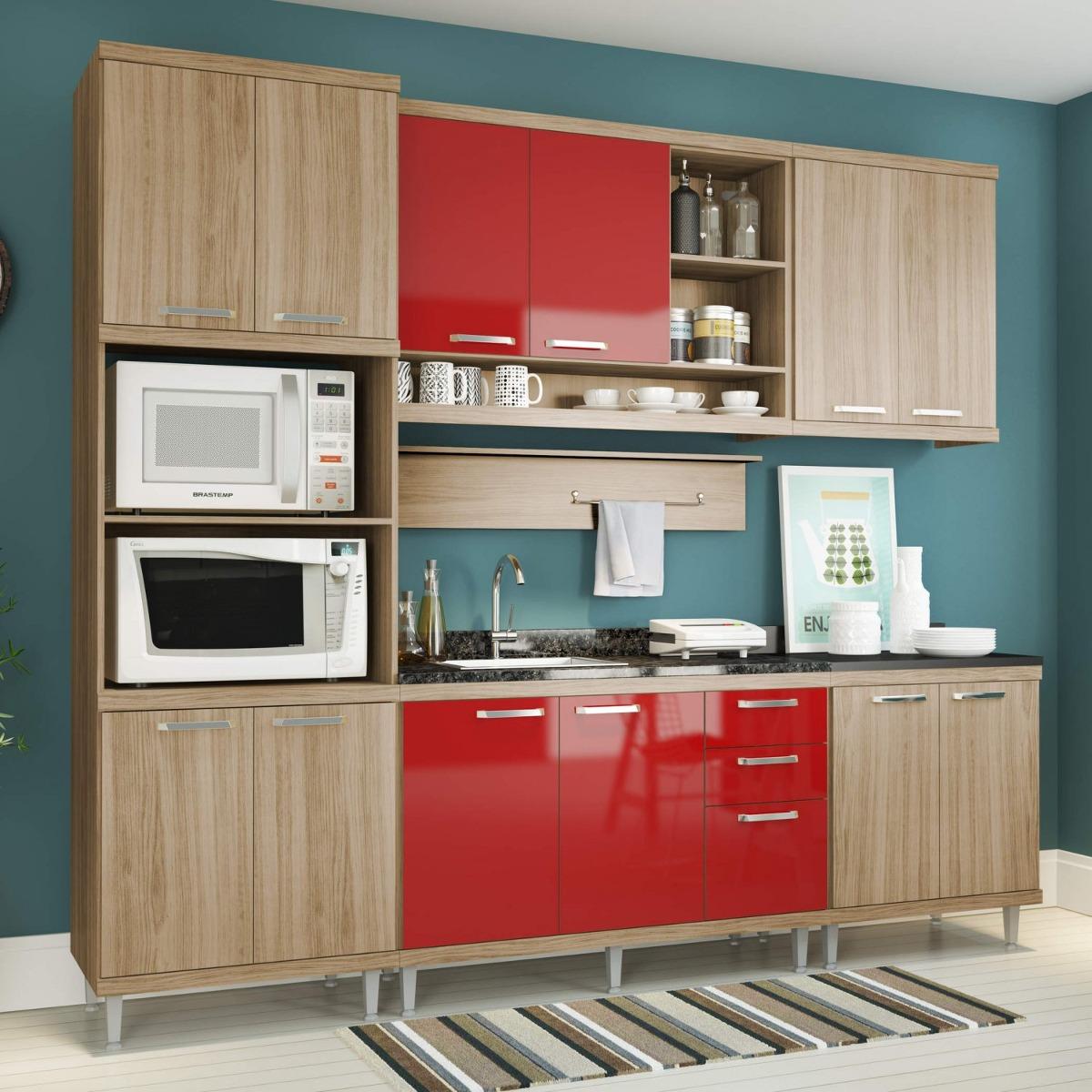 Cozinha Completa Com Balc O Sem Tampo 6 Pe As 12 Ii R 1 939 90 Em