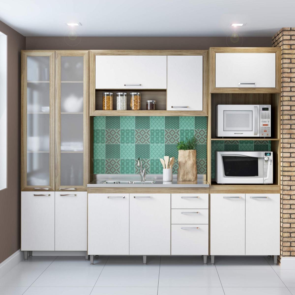 Cozinha Completa Com Balc O Sem Tampo E Paneleiro Ed R 1 769 90