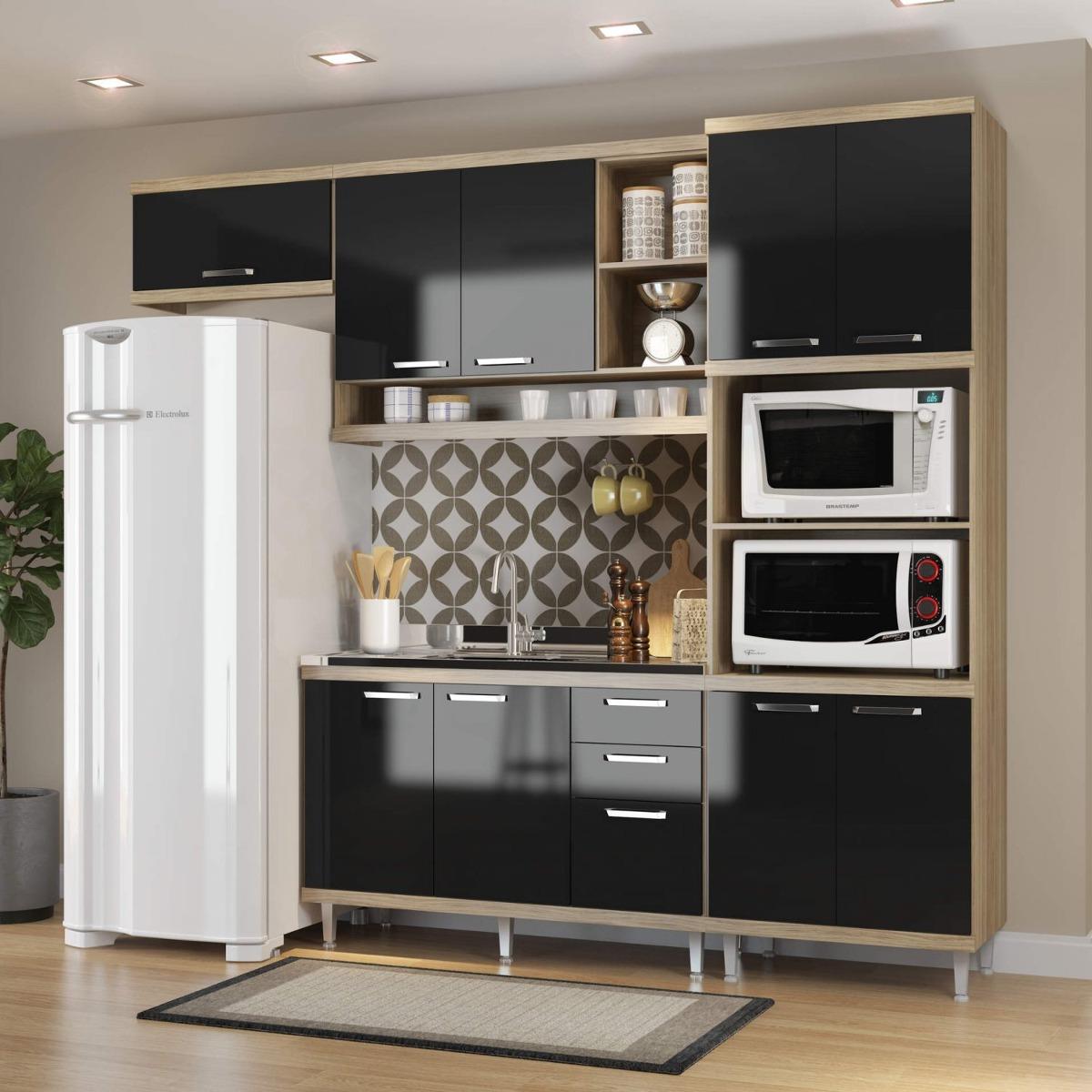 Cozinha Completa Com Balc O Sem Tampo E Torre Quente Jf R 1 449