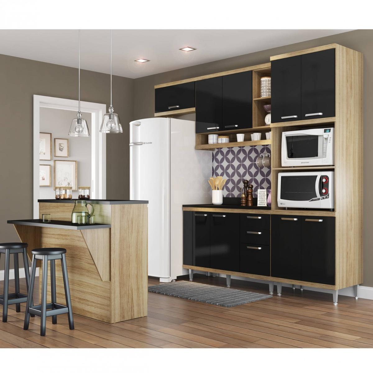 Cozinha Completa Com Bancada E Balc O Com Tampo 6 Dg R 2 099 90
