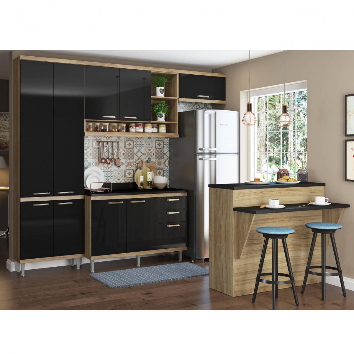 Cozinha Completa Com Bancada E Balc O Com Tampo 6 Eiwt R 1 900 70