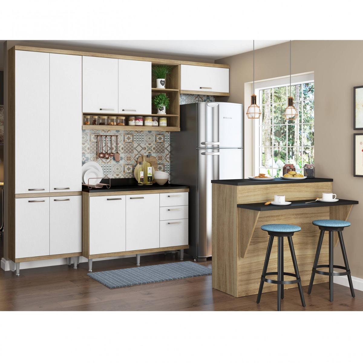 Cozinha Completa Com Bancada E Balc O Com Tampo 6 Ejwt R 1 900 70