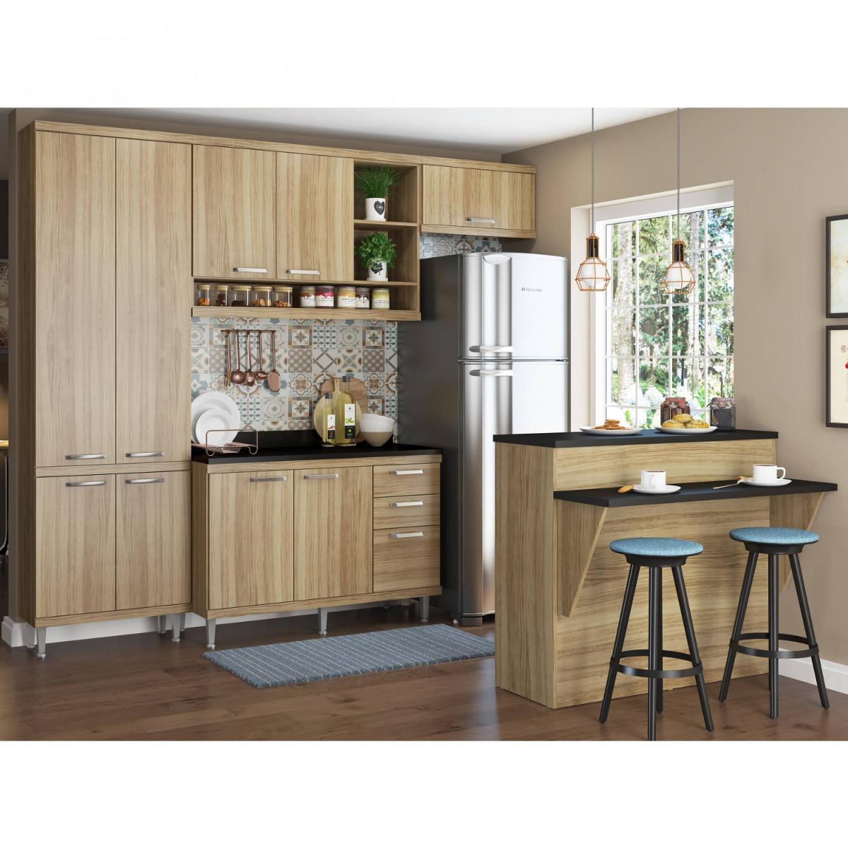 Cozinha Completa Com Bancada E Balc O Com Tampo 6 Fa R 1 979 90